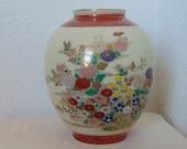 Japanese Satsuma Vase - Hand Painted Enamel - Early 20th Century - Signed - Flowers