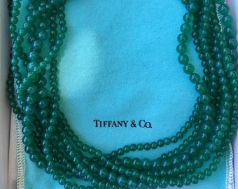 841db9042 Vintage Tiffany & Co. Paloma Picasso Green Onyx 1980's Necklace