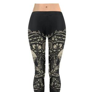 Black TRIPLE MOON GODDESS Gothic leggings|Plus Size Goth|Gothic pants|Witchcraft clothing|Pagan clothing|Wiccan clothing|Witch leggings