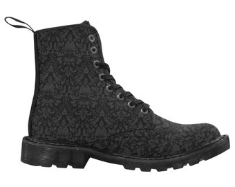 Goth Boots - Black gothic shoes - Wiccan Witchcraft boots - Occult - Christmas