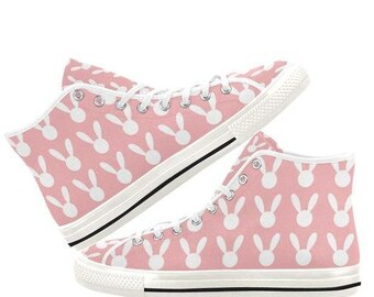 ceca8092d4ca Ddlg shoes - Kawaii shoes - Little Bunny Pastel shoes - Ddlg pink Canvas  Shoes - Yami kawaii