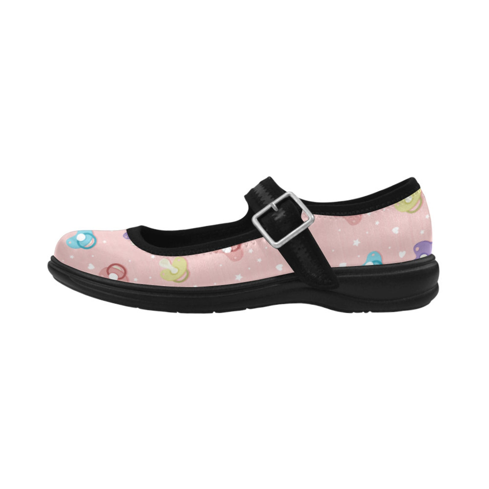 ddlg shoes - pastel shoes - kawaii shoes - abdl - ddlg pink ballet shoes - ddlg pacifier - yami kawaii