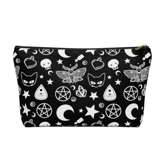 Personalised goth make uppencil case purse bag ready to post design or custom for gift