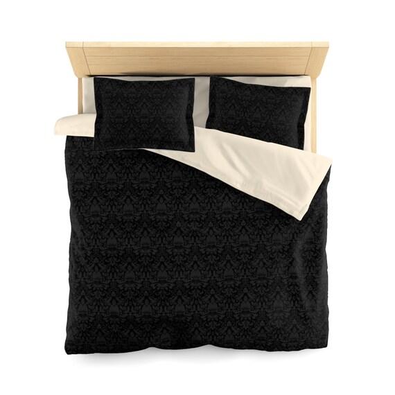 Decor Gothic Bedding Black Duvet Cover, Black Gothic Bedding
