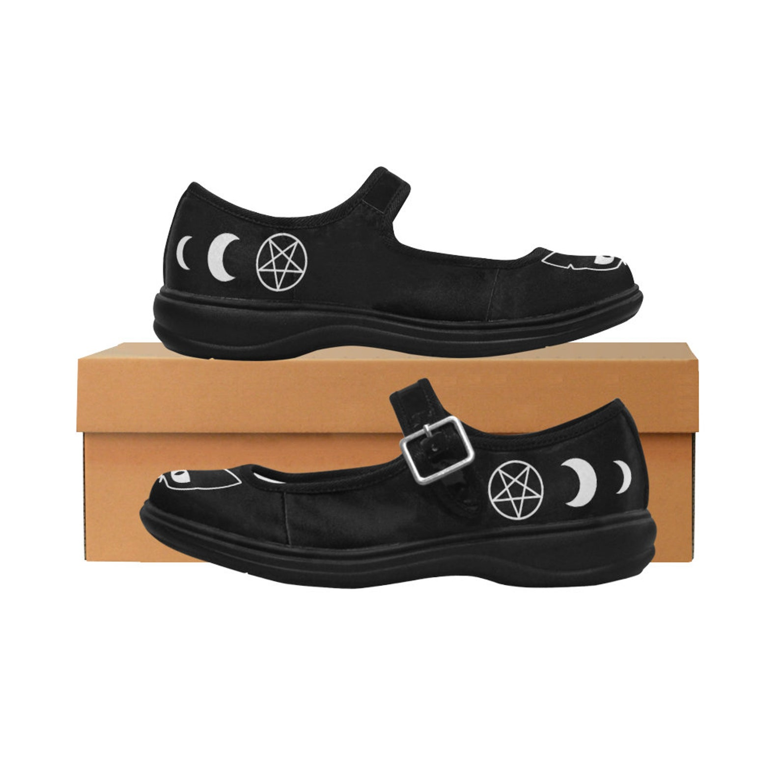 black cat - pagan clothing - occult clothing - witch clothing - witchcraft - ballet shoes