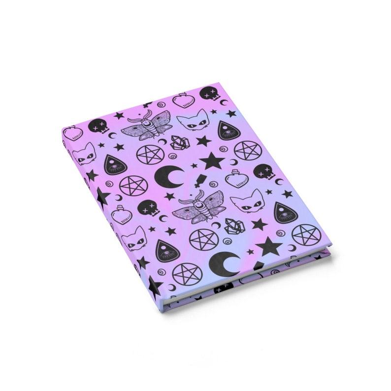 1308513823cf6 Pastel goth - Nu goth - Goth Journal - Ouija - Occult Journal - Pentagram -  Gothic Journal
