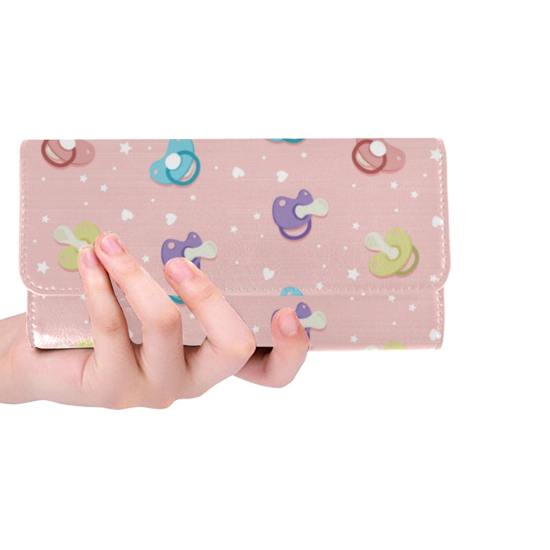 aa9fe9395e605 DDLG - ABDL - Pacifier wallet - ABDL women wallet - Ddlg pink wallet