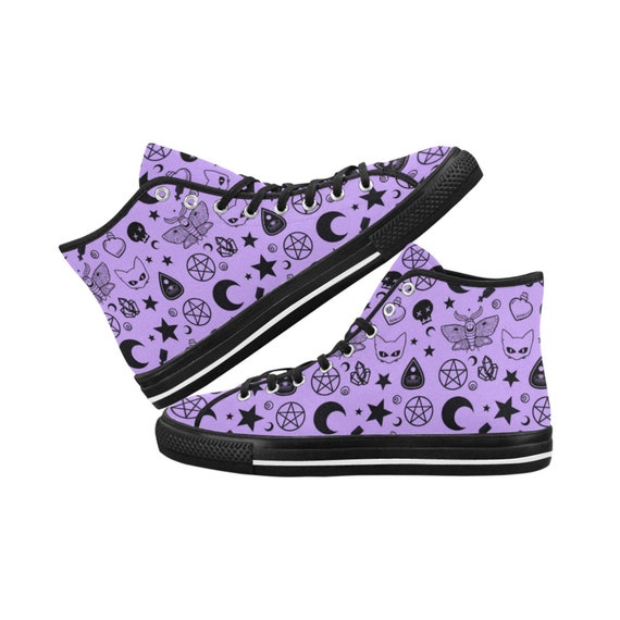 174685027e074 Pastel Goth - Nu Goth - Goth shoes - Pentagram - Gothic shoes - Pastel goth  Sneakers - Ouija Lace-up canvas shoes