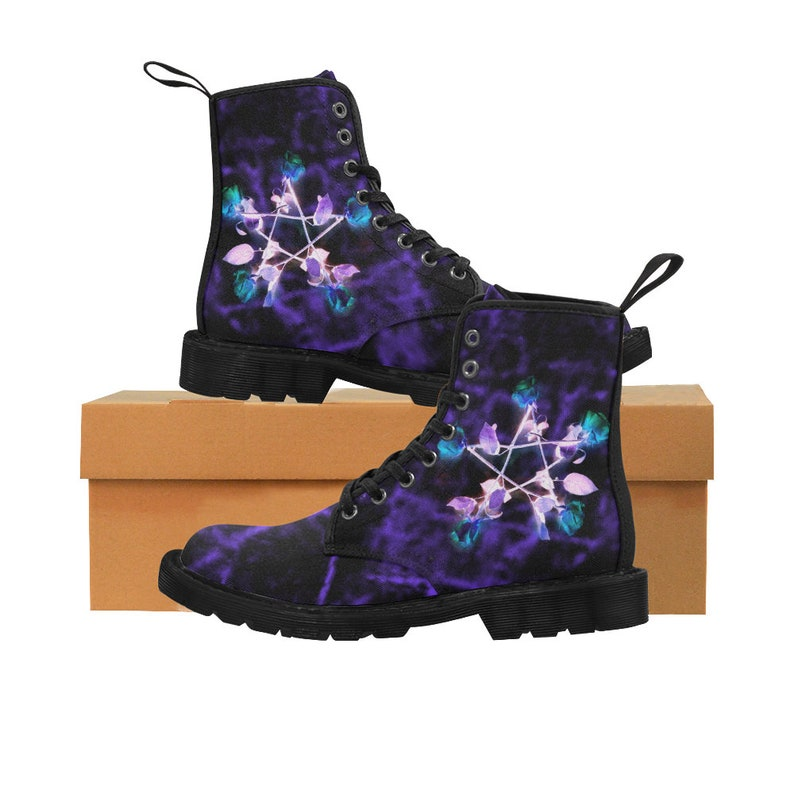 04c1cdf808c00 Pastel Goth Boots - Wiccan - Witchcraft - Witch shoes - Witch boot