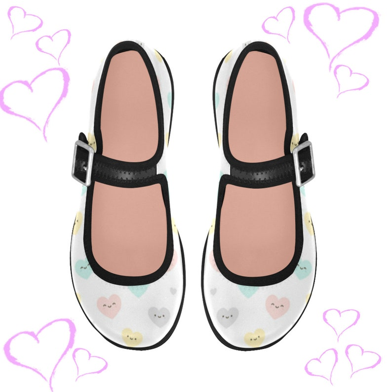 756d9e9d33d6f Ddlg shoes - Pastel shoes - Kawaii shoes - Abdl - Ddlg pink Ballet Shoes -  Ddlg hearts - Yami kawaii - ABDL clothing DDLG clothing