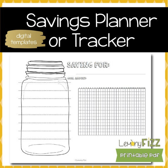 Saving For Planner Save Tracker Bullet Journal Template Or