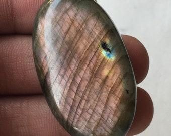 Oval Shape  57X42X6 MM Loose Gemstone Both Side Polish Use For Jewelry Handmade Item Awesome Gemstone Labradorite Cabochon