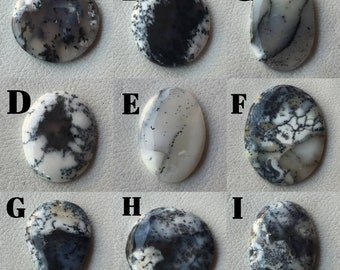 Top Quality Natural Australian Dendritic Opal Pear Shape Cabochon Loose Gemstone For Jewelry Making Size Size 33x22x5 mm 38 Ct.