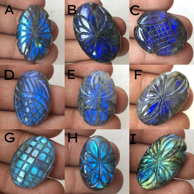 Fabulous Labradorite Carving Gemstone Both Side Polished Use For Jewelry Natural Labradorite Loos Gemstone Mix Shape  Item Code 13687