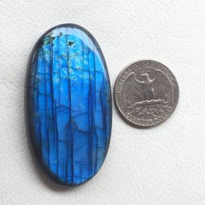 44x31x7 MM Gorgeous Flashy Labradorite Gemstone For Making Jewelry Labradorite Cabochon Oval Shape loose Gemstone  Item No.13532