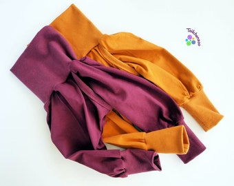Organic split pants, slit pants, holding pants diaper-free different sizes uni, different colors