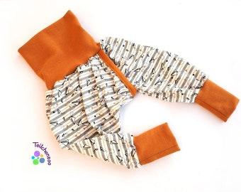 Organic split pants, slit pants, stop pants diaper-free various sizes paper planes