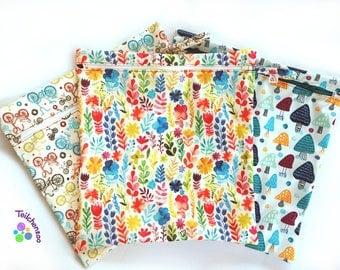 various pattern wetbag, wet bag, diaper bag large