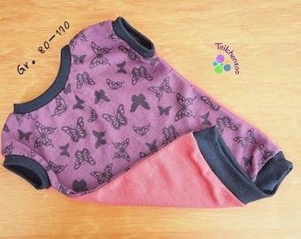 """Wool Silk Reversible Shirt """"Butterflies"""" Size 80-170"""
