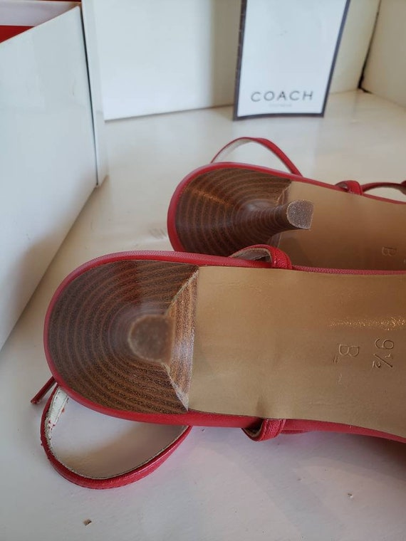 Strappy Red Coach Sandals - image 4