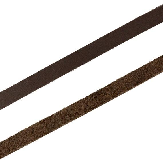 Lederband Leder Riemen Lederschnur Flach vierkant 4mm Stärke versch lang Beige