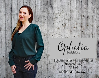Bodybluse Ophelia / Schnittmuster Gr. 34-44