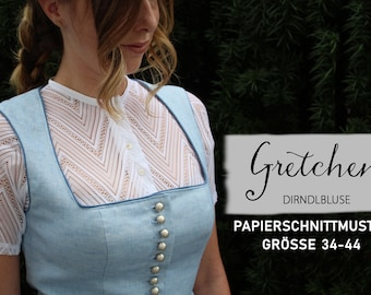 Dirndlbluse Gretchen / Paper cut pattern size 34-44
