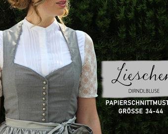 Dirndlbluse Lieschen / Paper cut pattern size 34-44