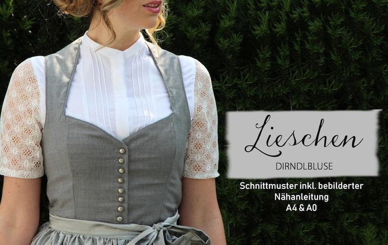 Dirndlbluse Lieschen / Schnittmuster Gr. 34-44 image 0