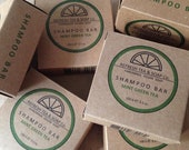 Wholesale Order of 20 Handmade Organic Shampoo Bars, Vegan, Small-Batch, Made with Peppermint and Green Tea for Dry, Damaged Hair