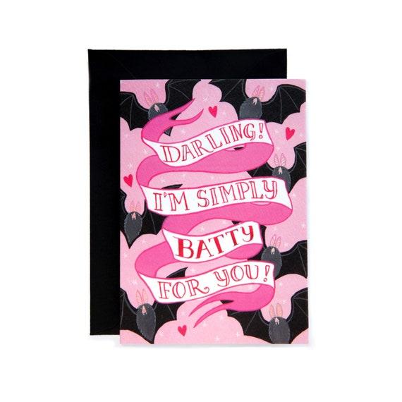 I Love Bats Greeting Card Birthday Card