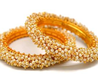 Creative Jewels Bollywood Indian Red White American Diamond Bracelets kangan For Women Girls Wedding  2.6 Size B93
