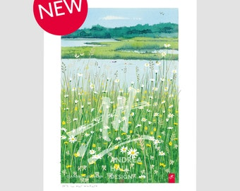 Wild swimming print. 'It's In Our Nature'