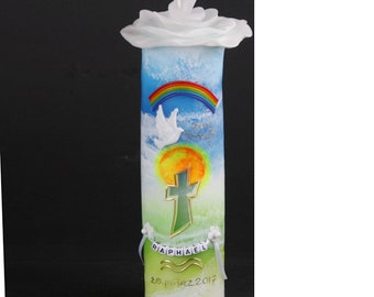 Flower candle: Sky and earth with name chain