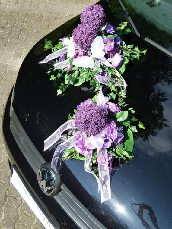 Car Jewelry Allium Silk Flowers Etsy