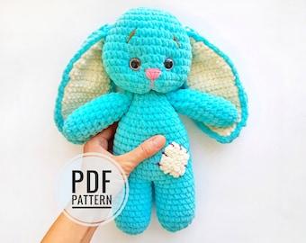 CROCHET PATTERN Bunny plush toy - Amigurumi pattern rabbit - Crochet bunny pattern - Crochet amigurumi doll - Pdf tutorial animal - Ostin