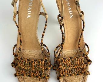 dd88ff2cf9b2 Prada Python heels sz 38 Perfect condition