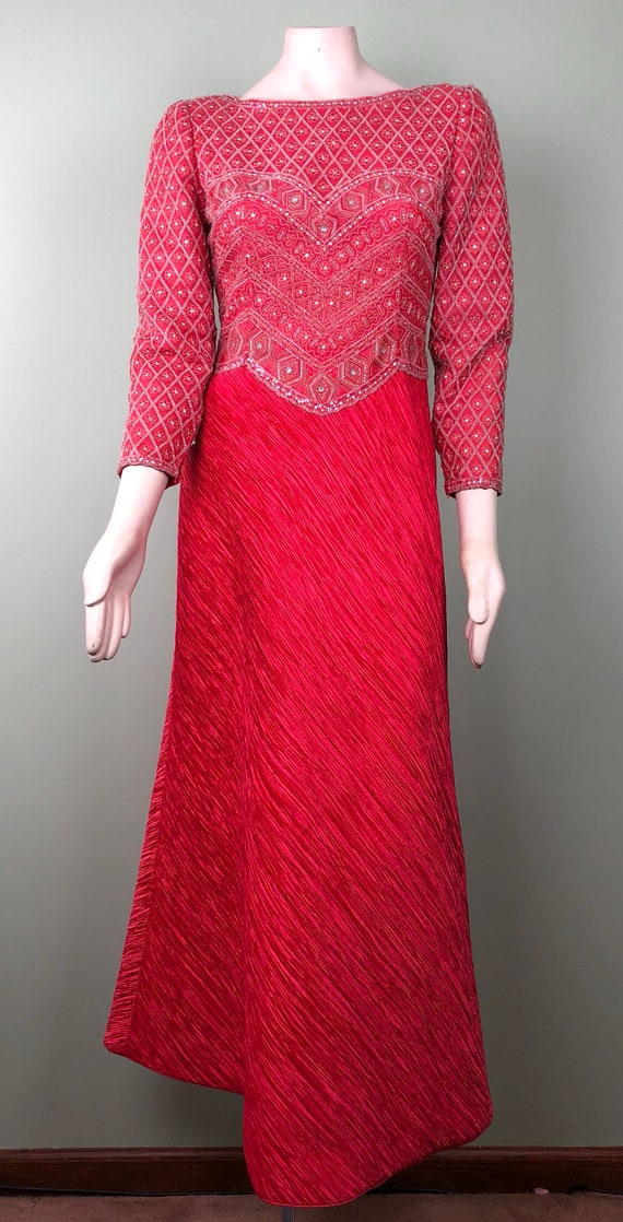 Vintage Mary Mcfadden beaded gown