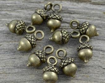 4 Stück Vintaged Metall Eichel nüsse Schmuck Silber Charm Anhänger Kunst 42*19mm