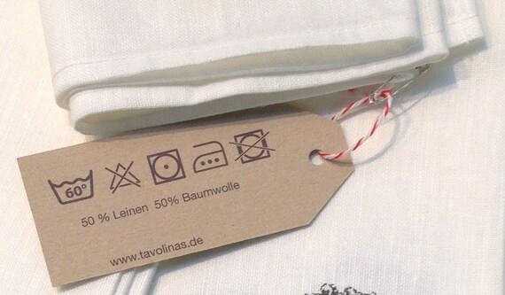 10 Stoffservietten Serviette Napkin   50x50 cm  ivory sand Baumwolle