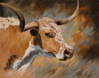 Tex -- Canvas Giclee' Print by Victor Blakey