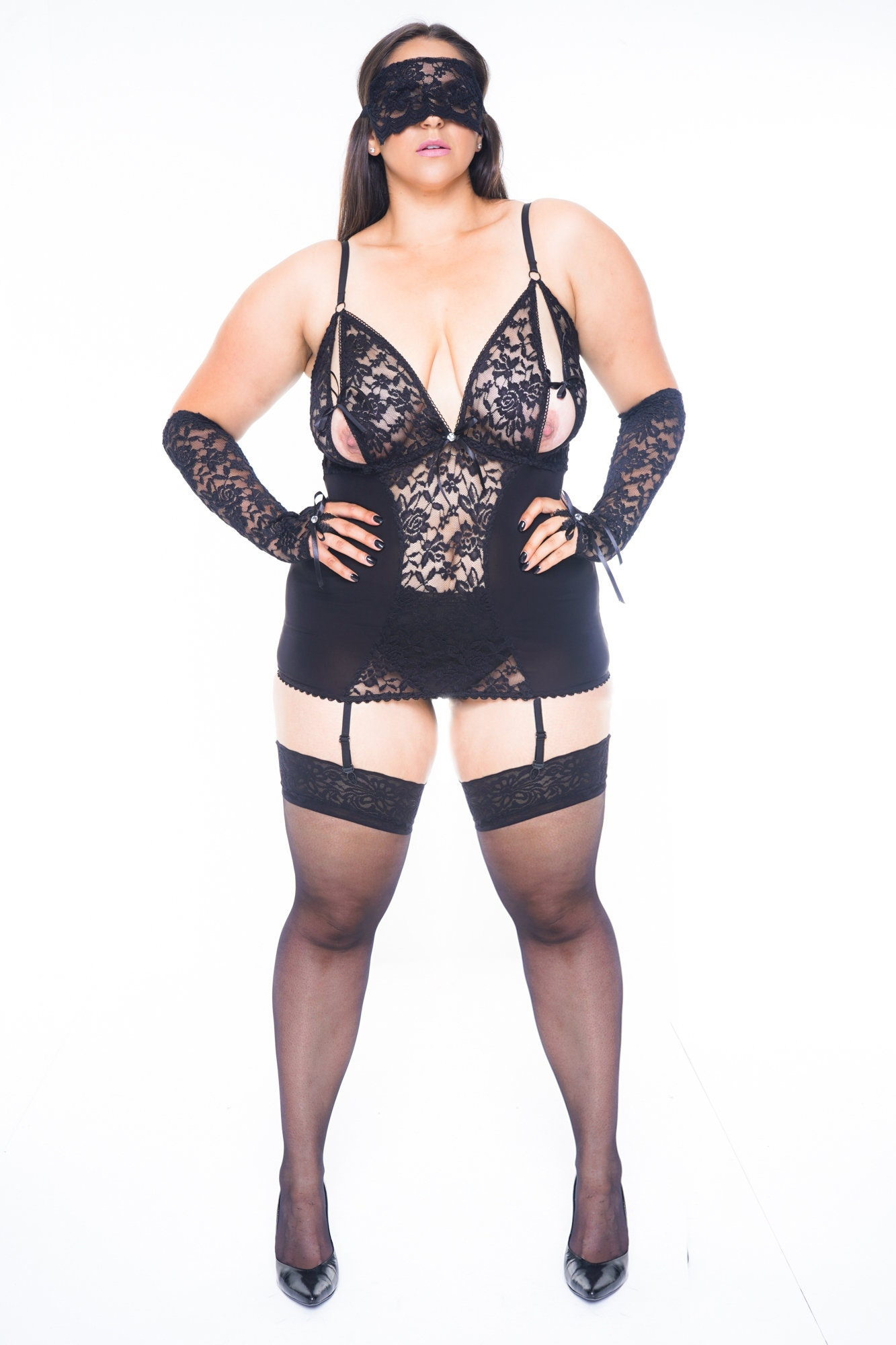 a8d731fdd5f THYRA Plus Size Lingerie See Through Lingerie Sexy Lingerie