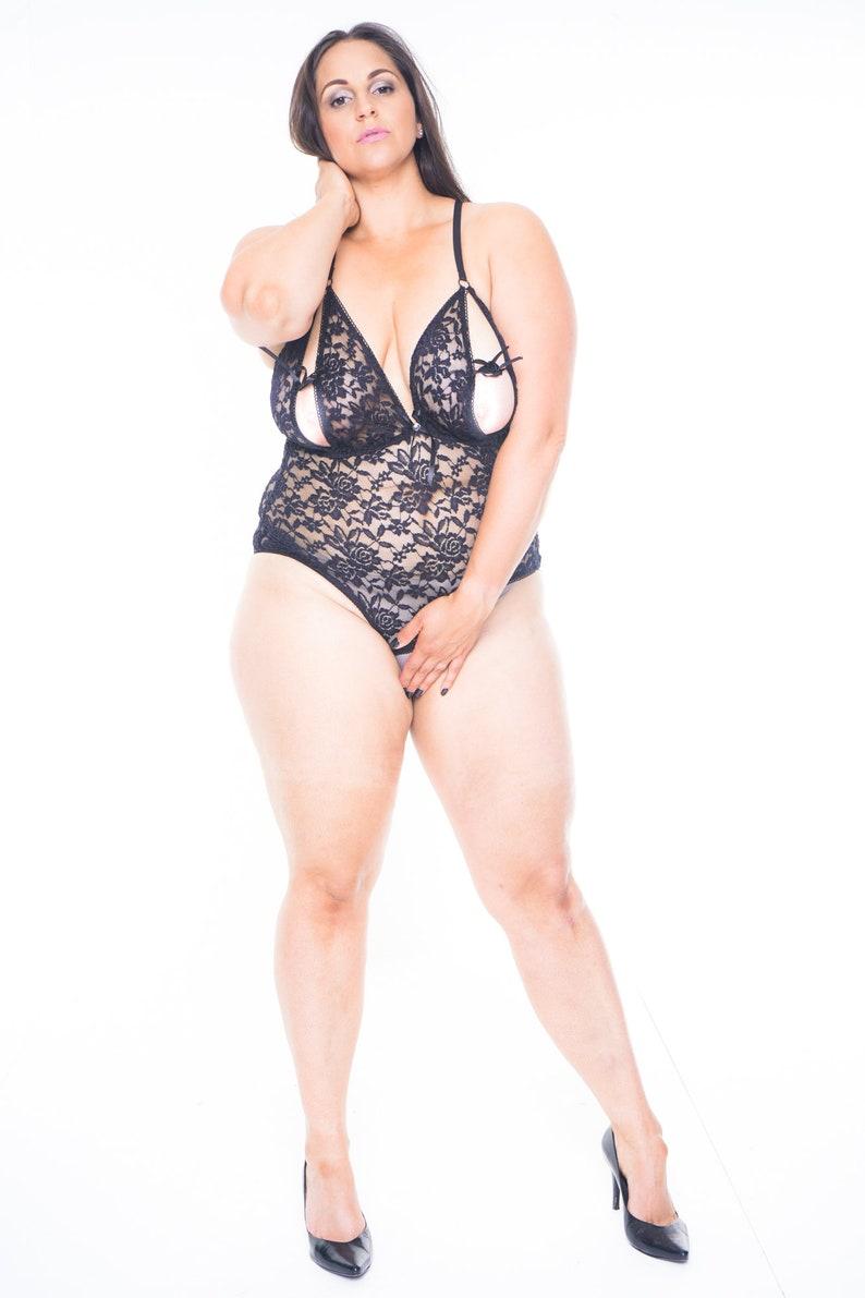 03d74a078 THYRA Bodysuit Women Sheer Lingerie Black Bodysuit Bodysuit