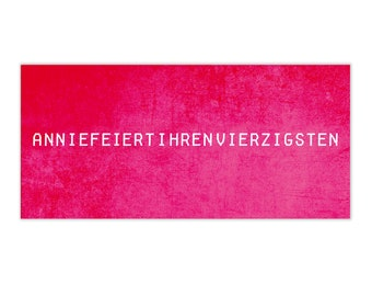 """Invitation cards """"Annie"""" • Pink-red • Din Lang"""