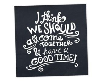 Good Time invitation cards • White on Black
