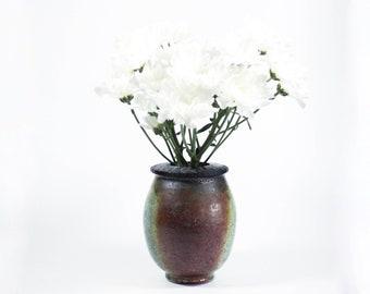 Raku Ceramic Bud Vase | Handmade Balloon Vase | Modern Home Decor | 370