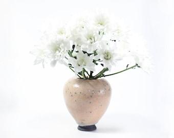 Raku Ceramic Bud Vase | Handmade Balloon Vase | Modern Home Decor | 371