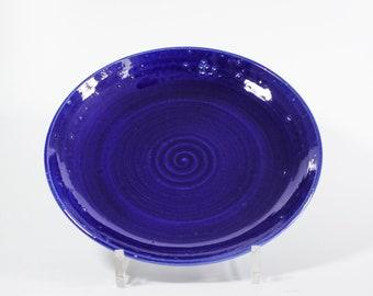 Modern Ceramic Farmhouse Bowl | Blue Dish | Handmade Unique | 338