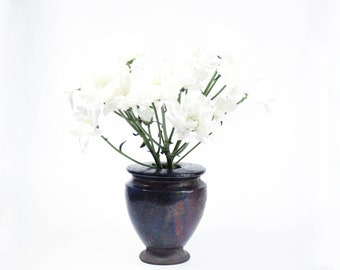 Raku Ceramic Bud Vase | Handmade Balloon Vase | Modern Home Decor | 373