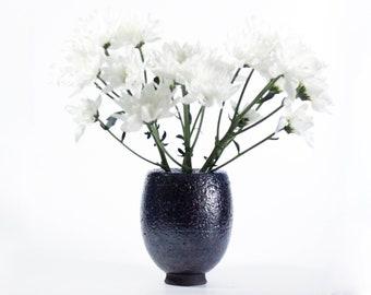 Raku Ceramic Bud Vase | Handmade Balloon Vase | Modern Home Decor | 369
